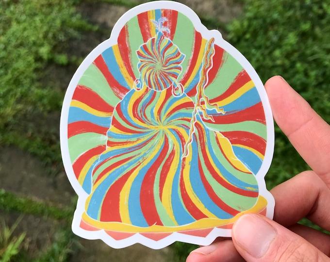 Featured listing image: Rainbow Body Sticker - Guru Rinpoche - Padmasambhava
