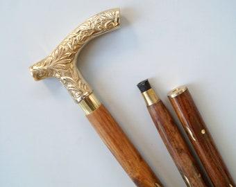 Antique Schwarz Drachenkopf für Gehstock Jahrgang Holzstange Griff