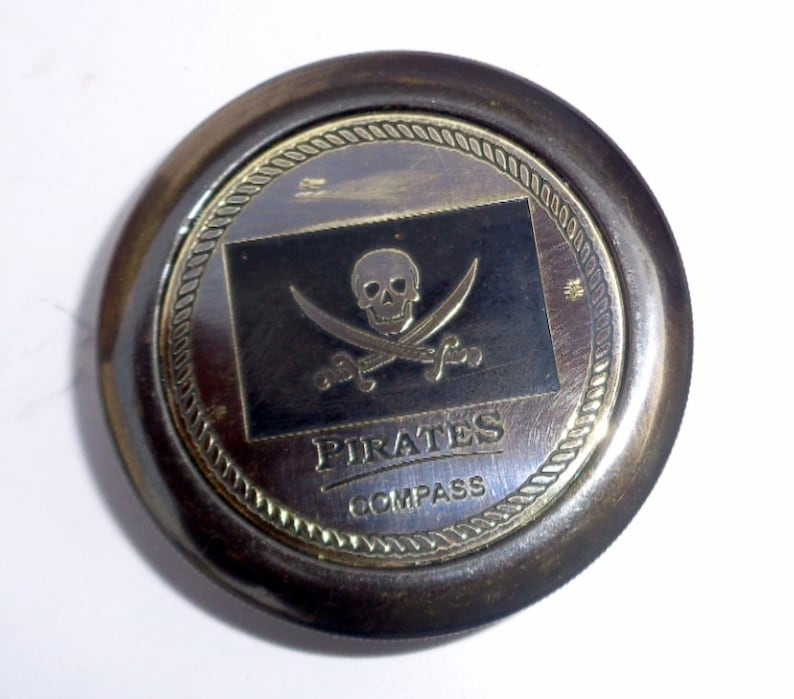 Antique Brass Maritime Pocket Pirate Compass 2 Inch With Leather Case Gift Item Antiques