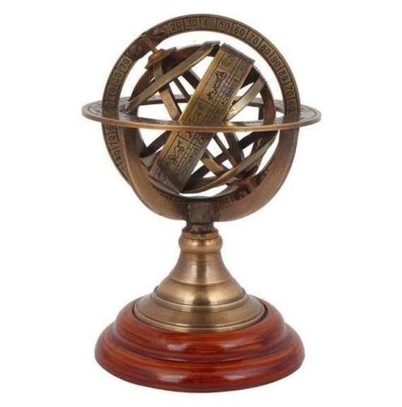 Antique Astrolabe Brass Armillary, Antique Armillary Sphere