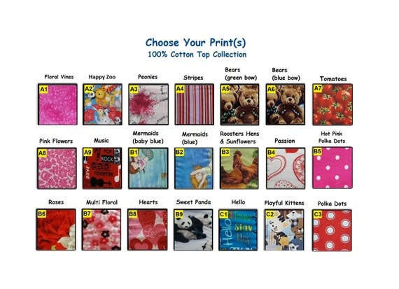 Set of 4 Size Sampler Multi FloralHeartsPassion 100/% Cotton Cloth Menstrual Pads