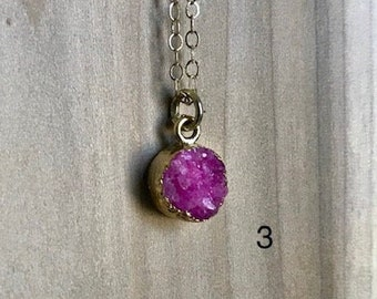 Druzy Gemstone Necklaces