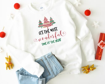 It's the most wonderful time of the year Christmas jumper / Unisex Adult & Kids sizes / Matching Family Xmas sweatshirt