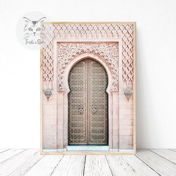 Moroccan Decor Printable Door Wall Art Morocco Architecture Etsy