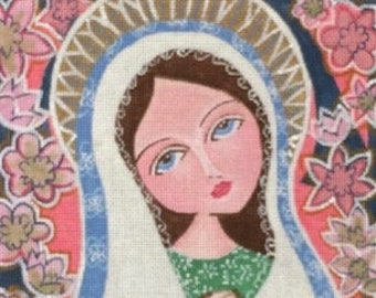 Stitch Guide Needlepoint Digital - Rosary Mary - Love You More Designs