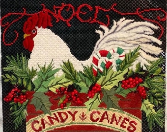 Stitch Guide, PDF Instant Download, Noel Rooster, Needlepoint