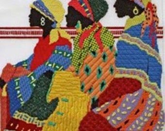 Stitch Guide Needlepoint Digital - Ladies in Wait from JuliMar and Friends Designs