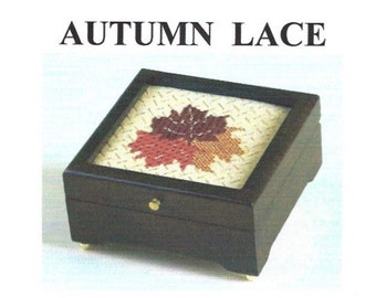 Cross Stitch Chartpak, Autumn Lace,PDF format, diagrams, materials list, Fall Leaves/