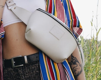 Leather Fanny pack for women, Hip bag, Bum bag, Gift for Women