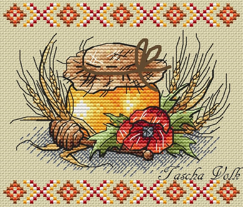 Generous gift of summer-1 Cross Stitch Hat Pattern PDF Instant Download Stylish Embroidery Cute Wall Decor