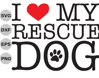 Rescued Is My Favorite Breed Svg Rescued Favorite Breed Svg Etsy