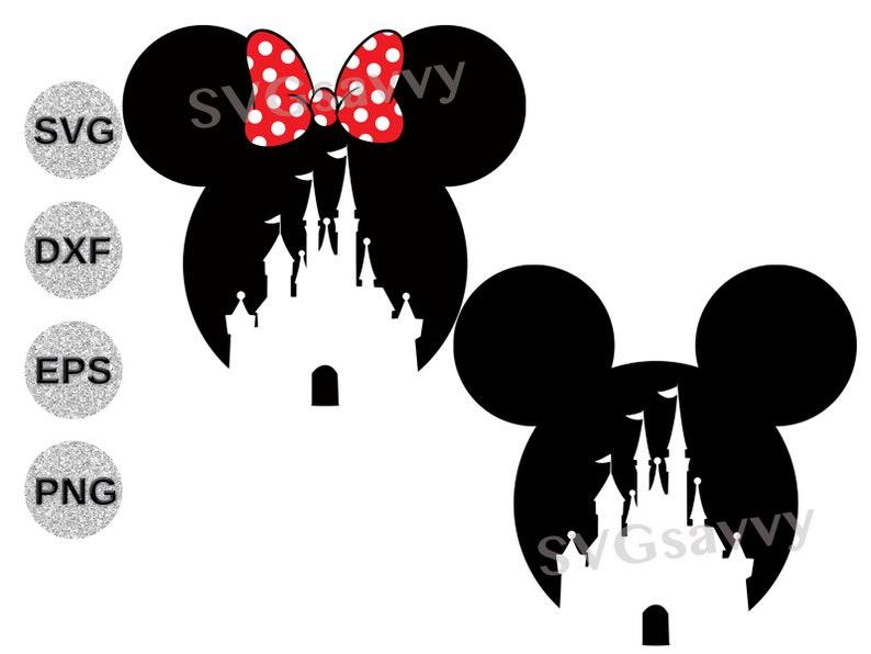 Disney Castle svg Disney Castle dxf Disney Castle Mickey image 0