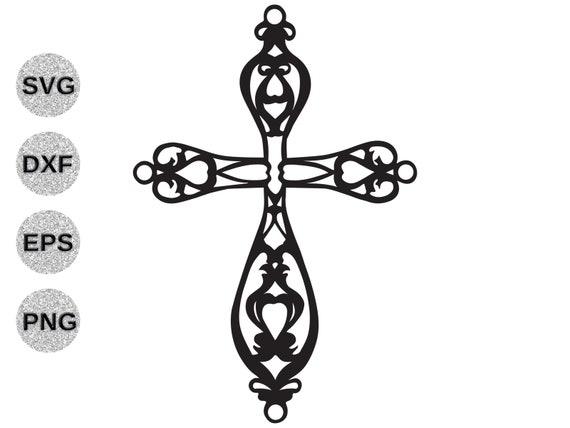 Cross Svg Fancy Cross Svg Cross Filagree Svg Cross Fretwork Etsy