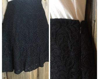 bafc1aefee8 Vintage 90s Black Mini Skirt