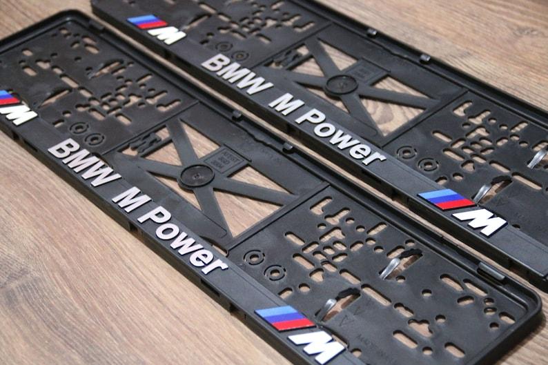 2 x BMW Number Plate Frame Surround Holder