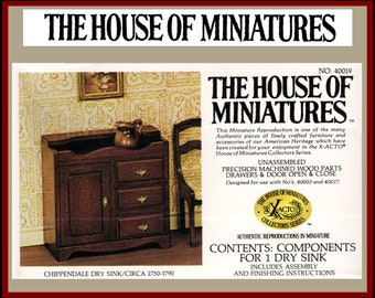 1//12 CHIPPENDALE NIGHT STAND KIT #40012 THE HOUSE OF MINIATURES NEW SEALED