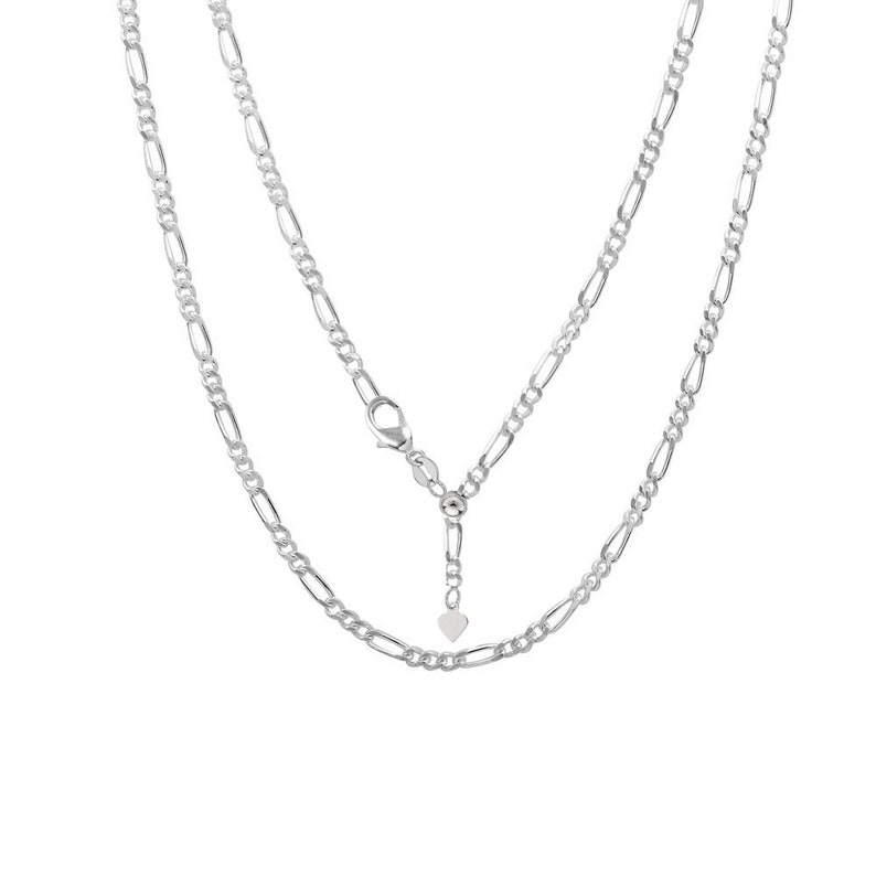 e555a1a24aaff Women 925 Sterling Silver Adjustable Chain Necklace, 2MM Figaro Chain  Adjustable Necklace, Bolo Necklace for Women,Slider Necklace for Women