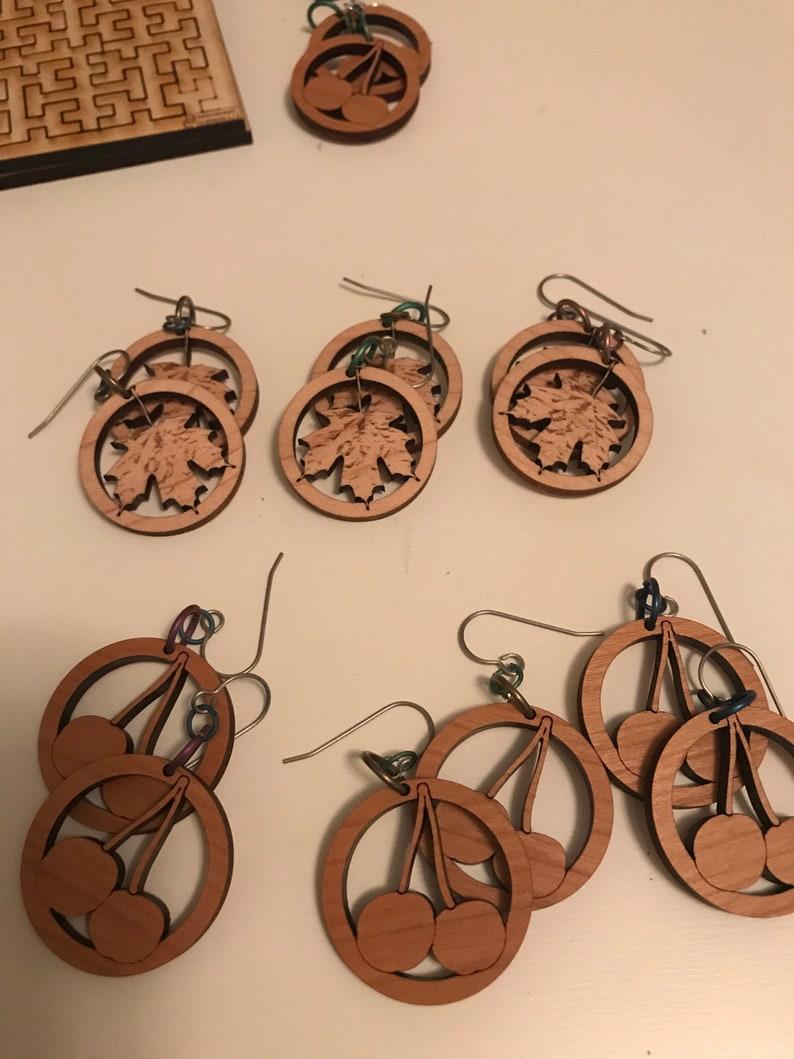 Cherry Wood Earrings