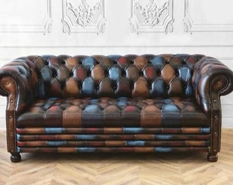 Enjoyable Bespoke Patchwork Chesterfield 3 Seater Sofa Designers Guild Caraccident5 Cool Chair Designs And Ideas Caraccident5Info
