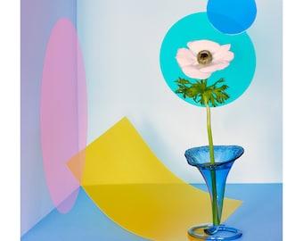 Modern Poppy: Still Life, Abstract Art, Pop Art, Fine Art, Interior Design, Modern Art, Floral Art, Home Decor