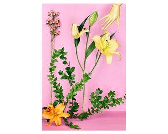 Still Life With Golden Stargazer Lily: Floral Print, Modern Art, Wall Hanging, Decorative Art, Fine Art Photography, Flower, Still Life