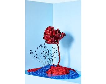 Blue Garden: Still Life,  Modern Art,  Flower Art,  Fine Art Photography, Interior Design, Home Decor (Limited Edition Print of 50)
