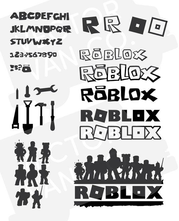 Roblox Svg Bundle Pack Roblox Cut File Roblox Svg Alphabet Etsy