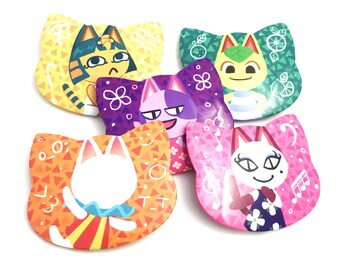 Image of: Bob Fanart Animal Crossing Cats Cat Buttons Etsy Bob Animal Crossing Etsy