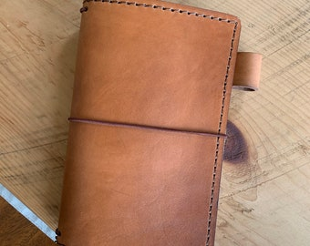Leather Travelers Notebook with Pockets, Travelers Journal, Handmade Travelers Notebook, Travelers Notebook, TN, Handmade Leather Notebook