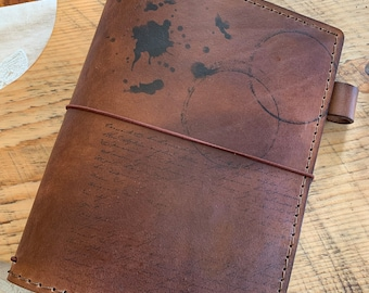A5 Travelers Notebook with Pockets, Travelers Journal, Leather Travelers Notebook, Bullet Journal, Travelers Notebook, TN, Cup Rings