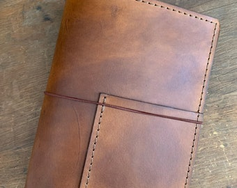 Travelers Notebook, Leather Notebook, Leather TN, Leather Journal, A5 Travelers Notebook, Travelers Notebook with Pockets