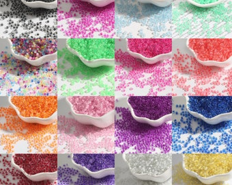 100g Pale Pink Colour Lined Clear Rainbow Glass Seed Beads sizes 6,8 and 11