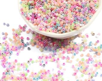 Gray Ceylon Rocailles Grey Pastel Seed Beads 12O 8O Grey Ceylon Seed Beads 2mm 3mm
