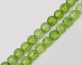 10mm Olive Green Colored Bicone  Crystal Beads 10 Strands 200 Beads