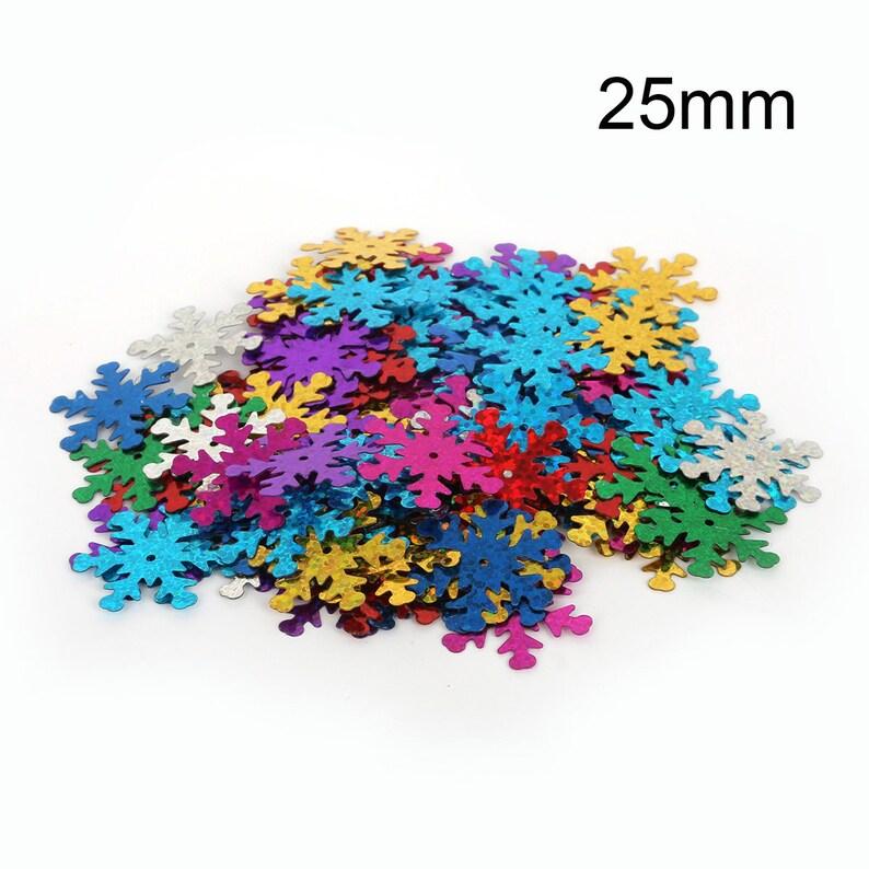 Rainbow Paillettes 200 Mix Color Snowflake Sequins Snowflake Paillettes Rainbow Sequins