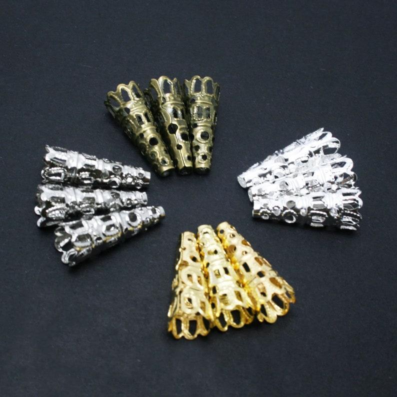 100 pcs Gold Filigree Cone Bead Cap 8x22mm Silver Filigree Cone Gold Filigree Cone Bronze Filigree Cone