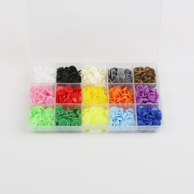 Size 20 Diy Color of your choice Press Stud 12mm Baby Children Snaps Popper Snap Button Kit Glossy Snap Fasteners Box Set T5