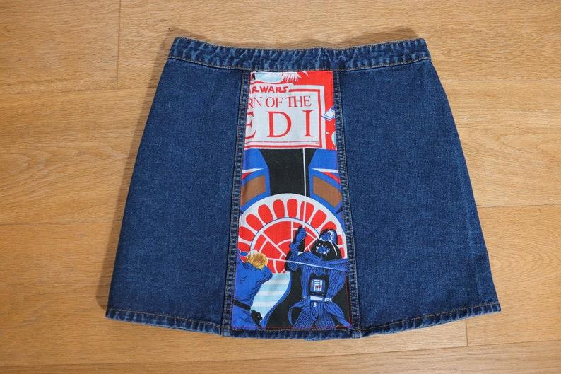 Reworked Disney Star Wars Inspired Denim Skirt