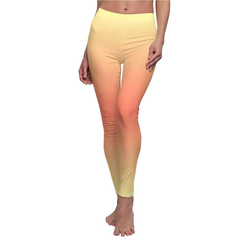 Leggings High Waist WorkoutYoga Pants Peach Color Casual Soft Comfortable Lounge Wear