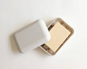 Zero Waste Natural Soap Tray Box   100% Biodegradable   Plastic-Free Dish  Bamboo Starch    White