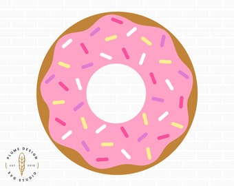 picture relating to Donut Printable identify Doughnut printable Etsy