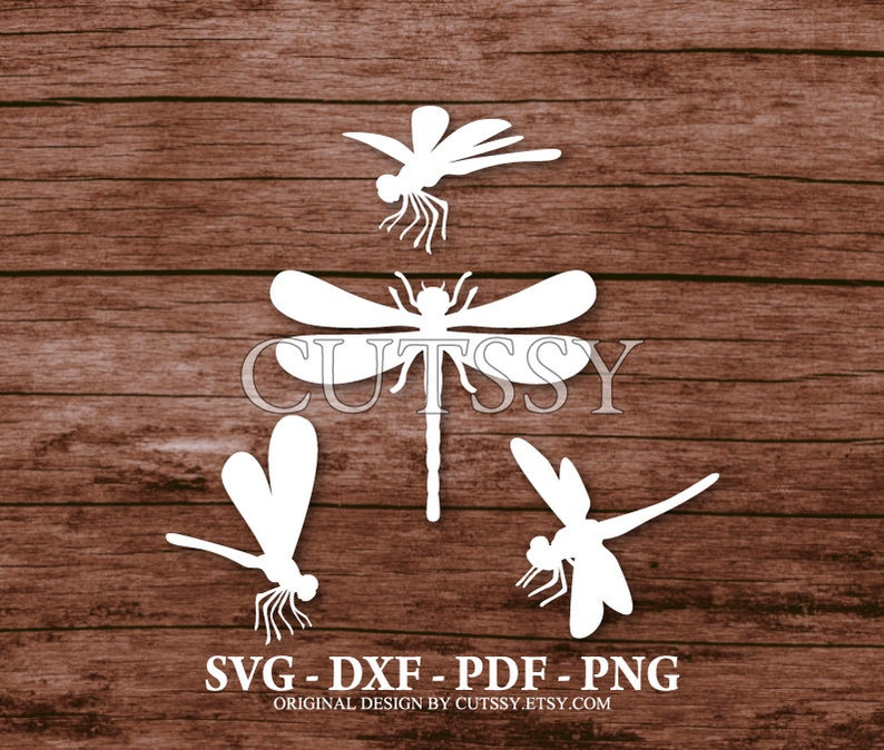 Paper Cricut Scan n Cut SVG Dragonfly Silhouette Cut Files Designs Craft Laser Clip Art Cameo and Printable