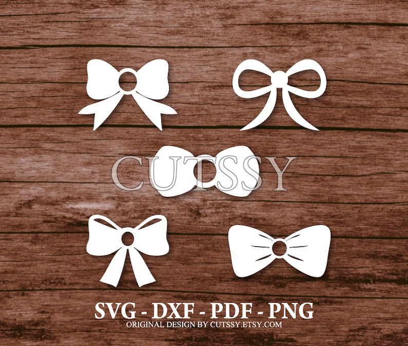SVG Bow Tie Silhouette Cut Files Designs Clip Art Paper image 0