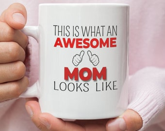 Awesome Mom Gift Mug For Bear Birthday Idea Mothers Day Gifts From Daughter