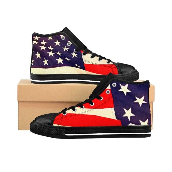 American Flag Women's High-top Sneakers