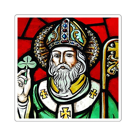 St. Patrick Clover Square Stickers