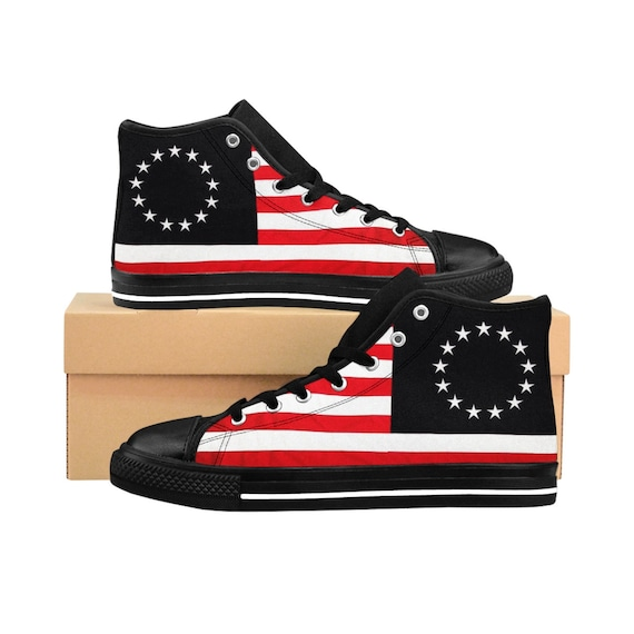 Betsy Ross Men's High-top Sneakers (run small, order 1 size larger)