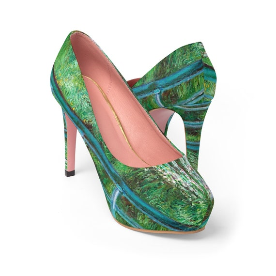 Women's Platform Heels (Copy of Monet painting)