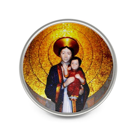 Asian Blessed Mother Metal Pin