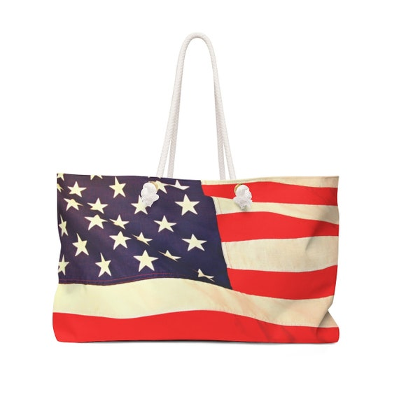 Wind-Blown Flag Weekender Bag (rugged look)